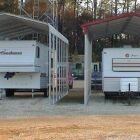 Classic (L) and Grand (R) RV or travel trailer covers.